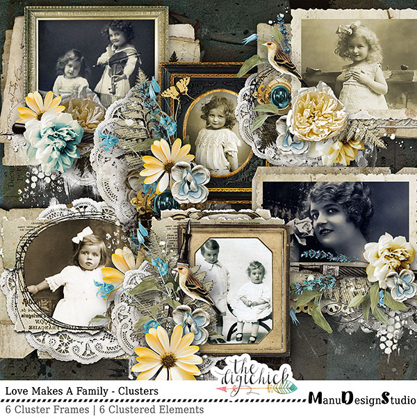 Love Makes A Family Scrapbook Clusters