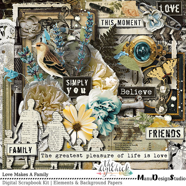 Love Makes A Family - Scrapbook Kit