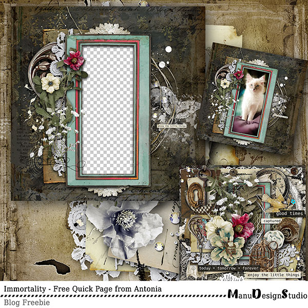 Vintage Scrapbook Quick Page Freebie