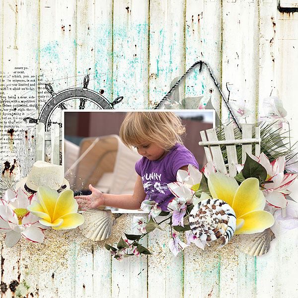 Summer Inspiration Scrapbook Layout
