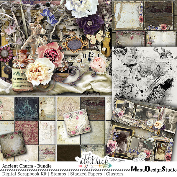 Vintage Digital Scrapbook Collection
