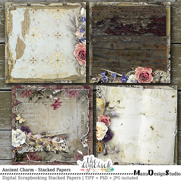 Scrapbooking Stacked Papers