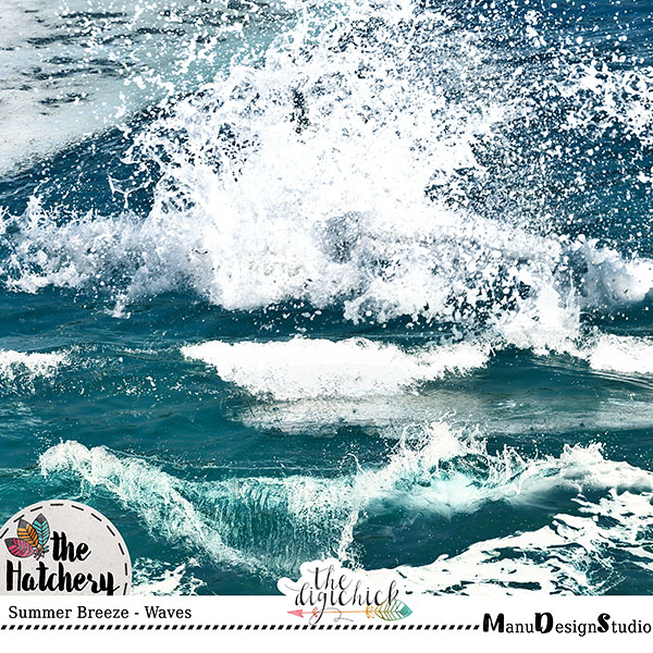 Summer Breeze - Waves and Water Overlays, Splashes