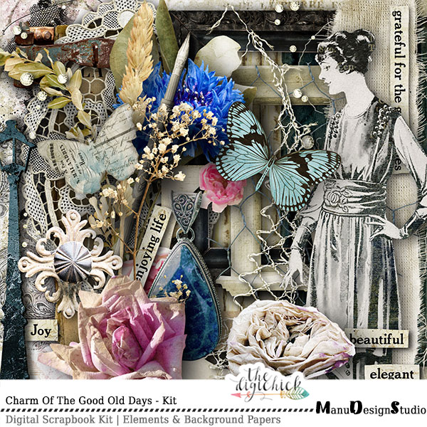 Vintage Digital Scrapbook Kit