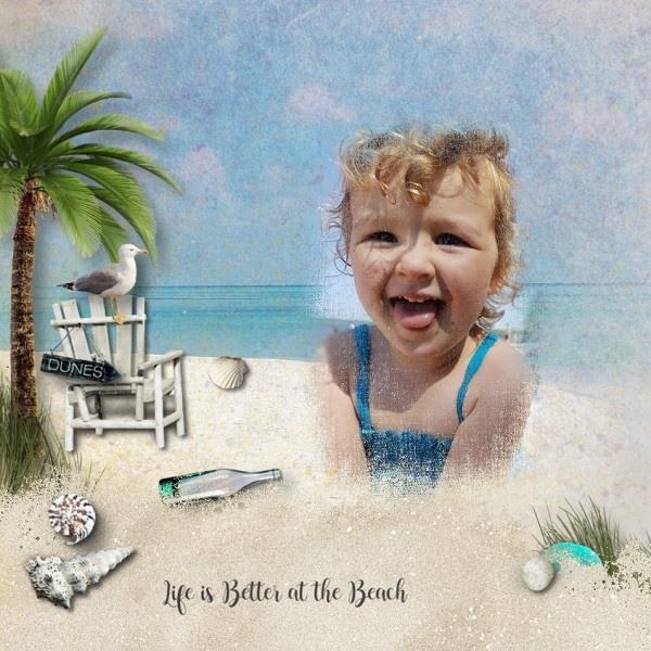Summer Scrapbooking Inspiration Layout