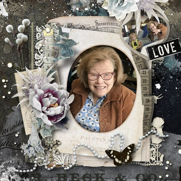 Vintage Scrapbook Inspiration Layout
