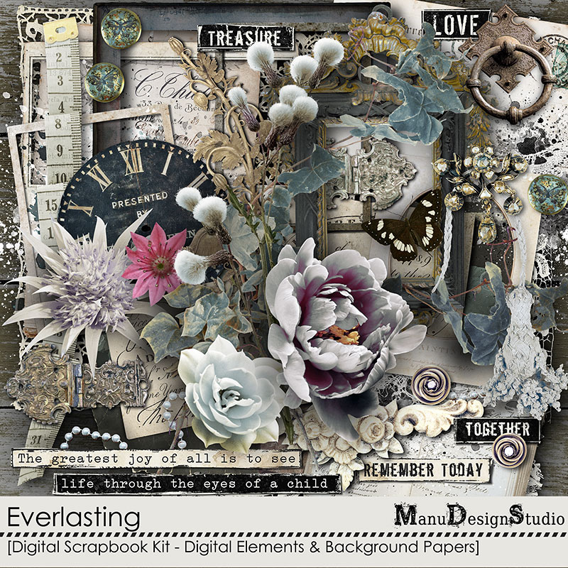 Everlasting: Vintage Scrapbook Kit