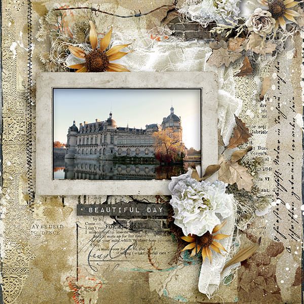 Fall / Autumn Vintage Scrapbook Layout