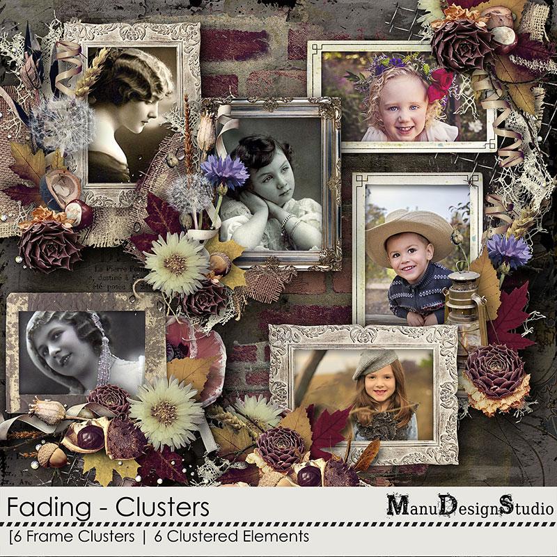 scrapbook autumn clusters