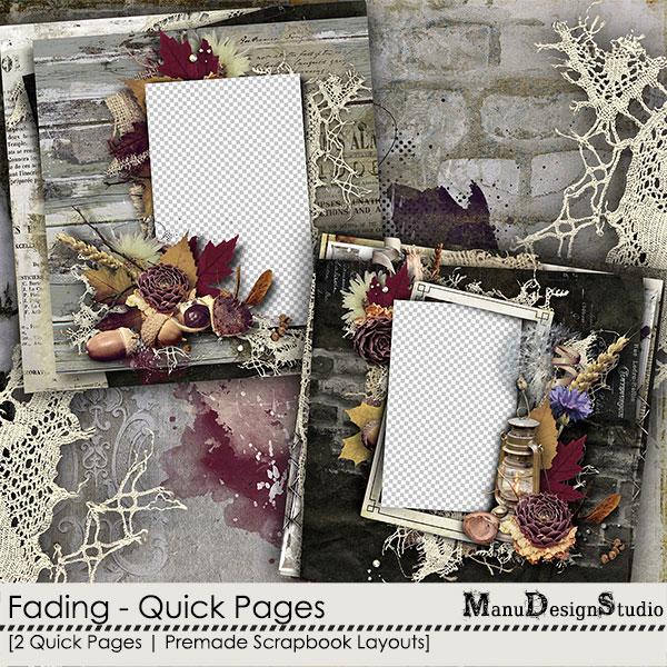 scrapbook autumn quick pages