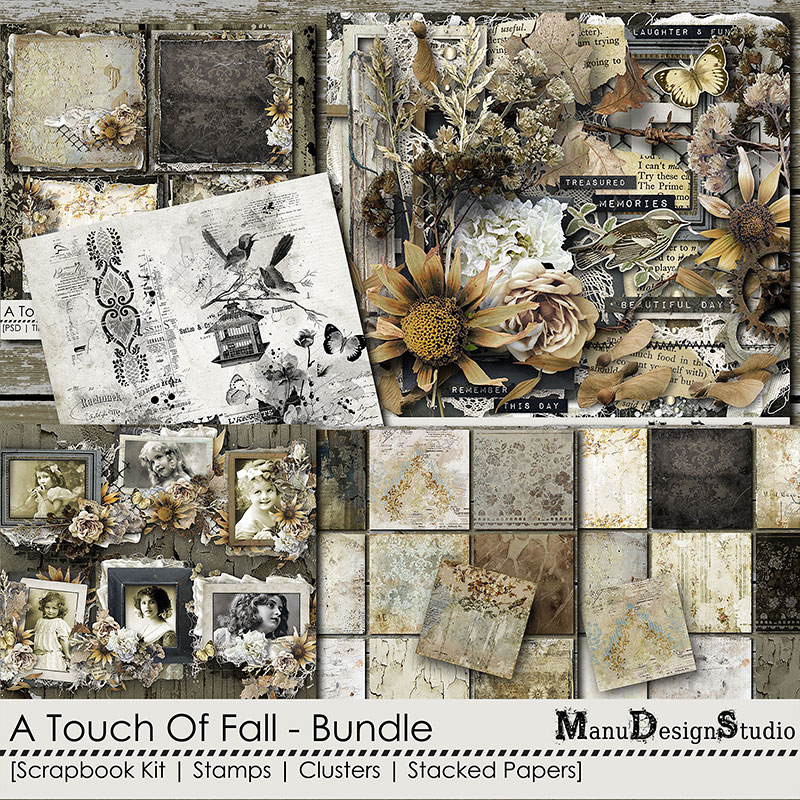 A Touch Of Fall - Vintage Fall Scrapbook Collection