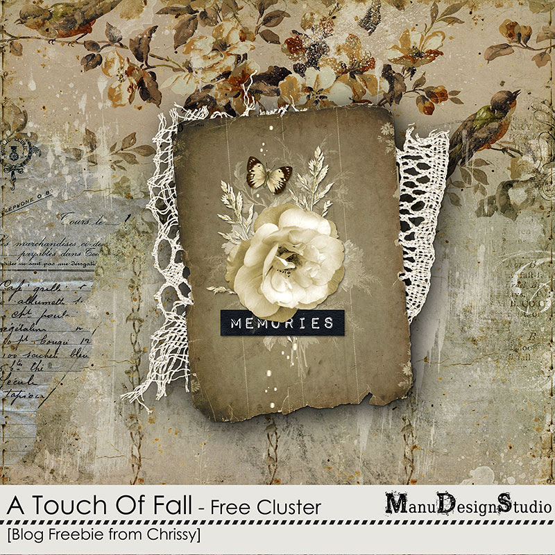 Cluster Freebie from Chrissy A Touch Of Fall