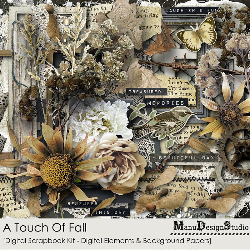 A Touch Of Fall - Vintage Fall Scrapbook Kit