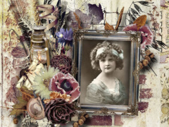 Vintage Autumn Scrapbook Layout