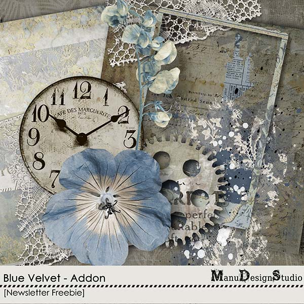 Blue Velvet Mini Kit Freebie