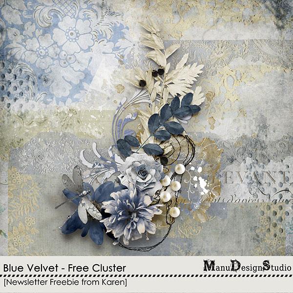 Blue Velvet Cluster Freebie
