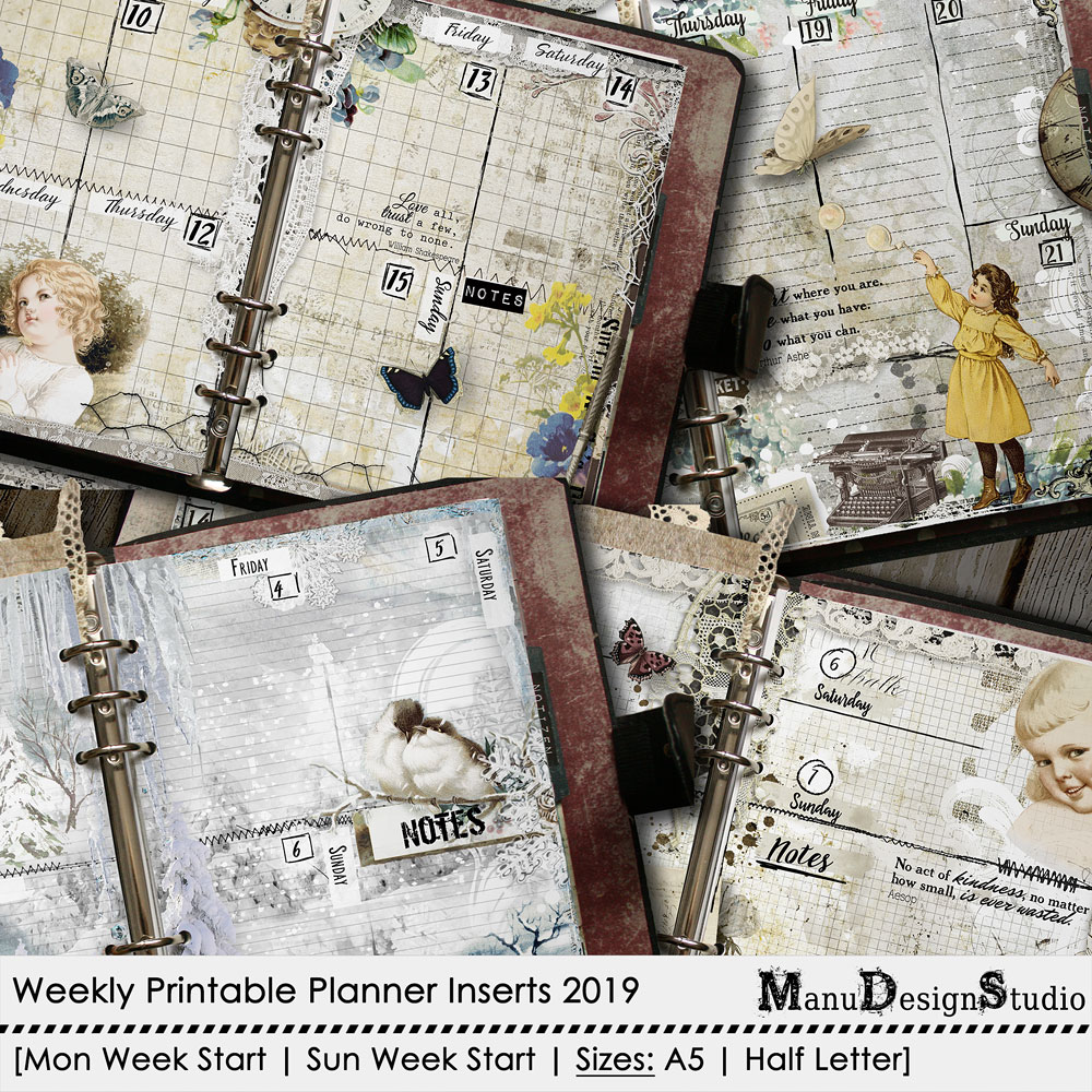 Printable weekly planner pages 2019 - no.2
