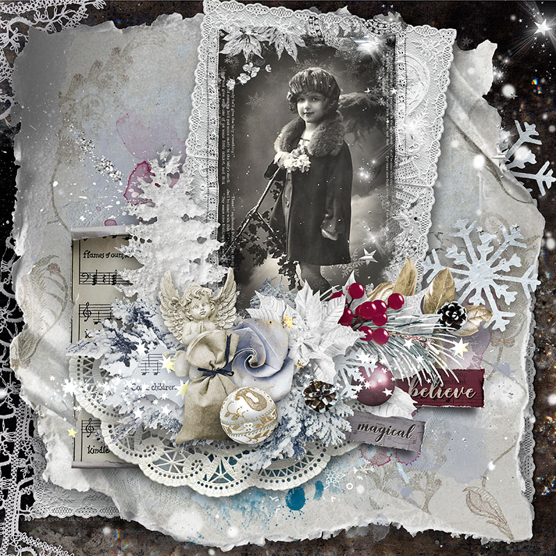 Sneak Peek Christmas Scrapbook Collection