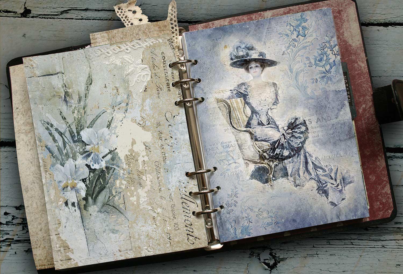 printable papers blue velvet