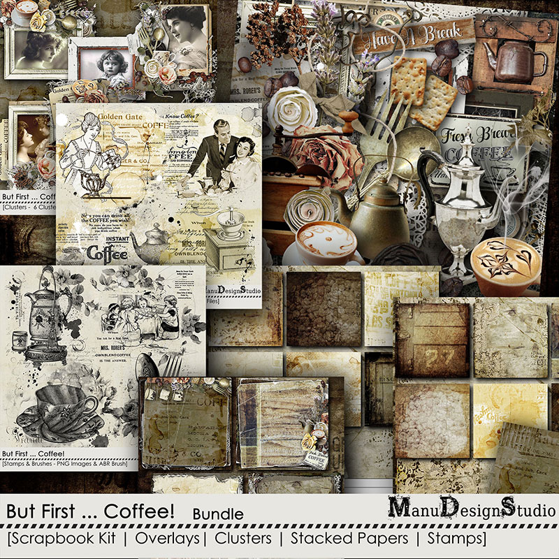 Coffee Digital Scrapbook Collection