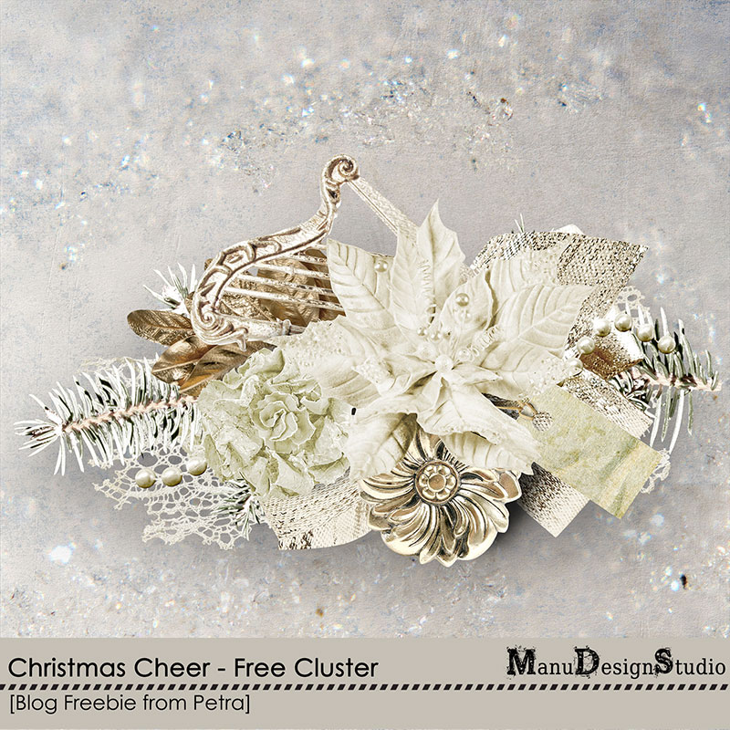 Christmas digital scrapbooking freebie