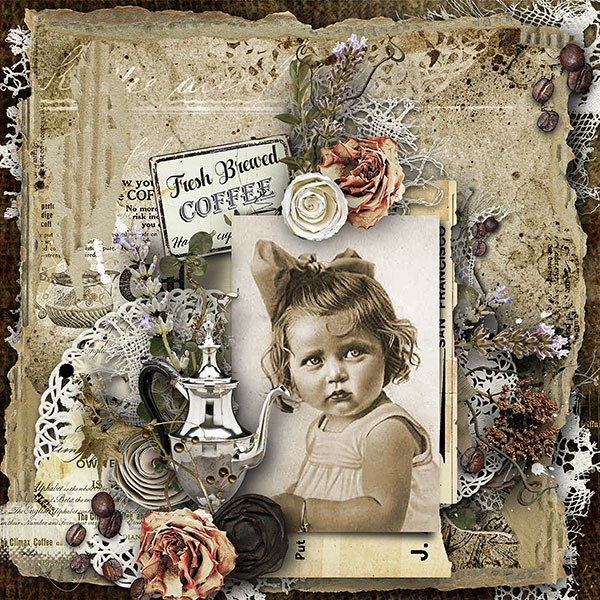 Coffee Scrapbook Page
