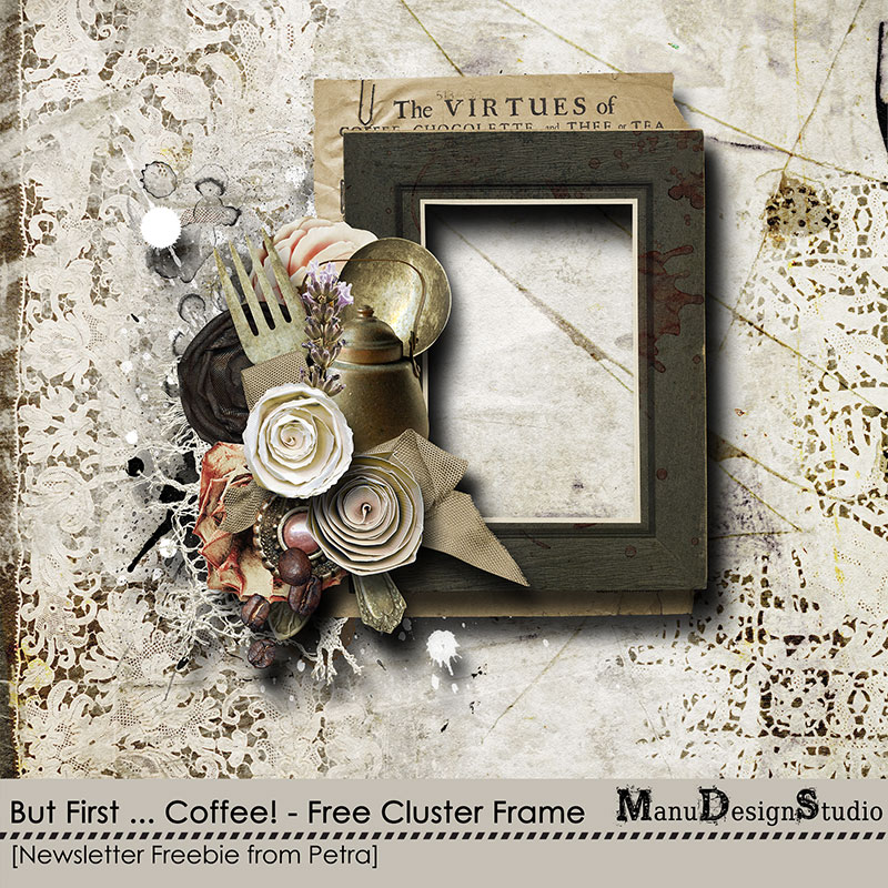 Coffee Time Scrapbook Freebie