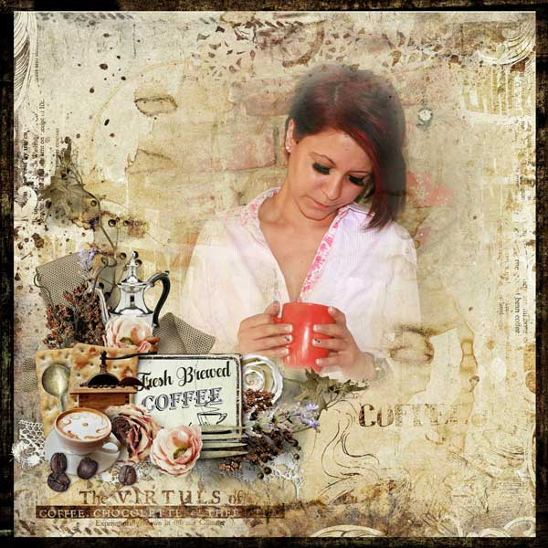 Coffee Scrapbook Page by Stacey