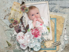 Wonderful oh-so-cute scrapbook layout