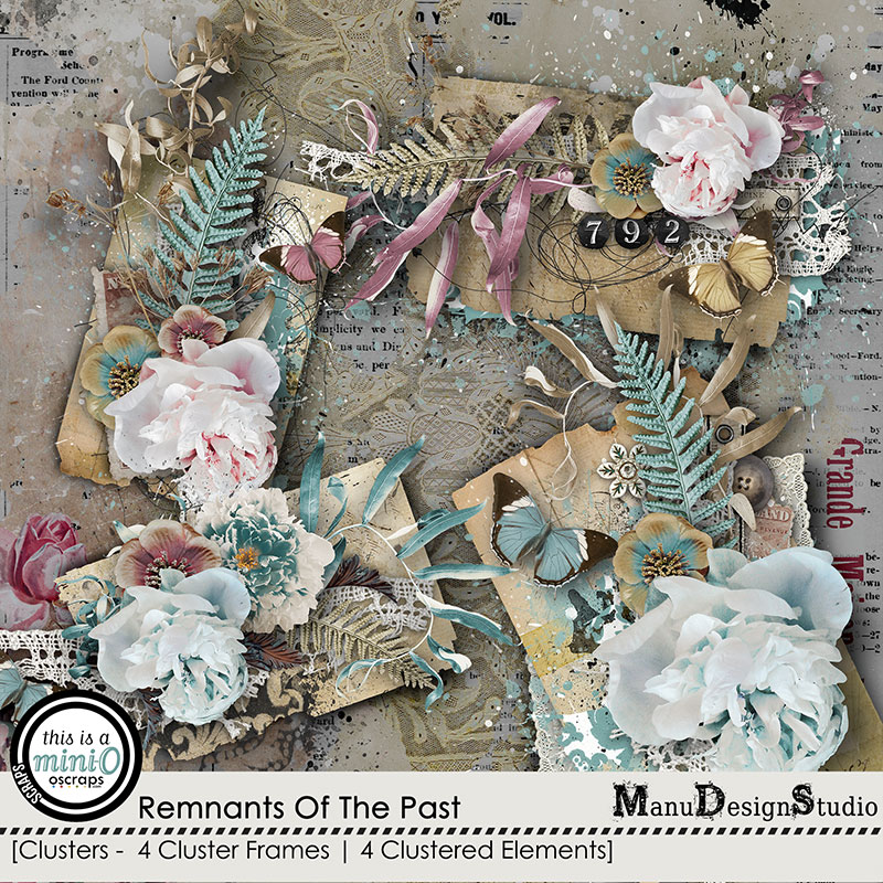 Remnants Of The Past - Vintage Scrapbook Clusters
