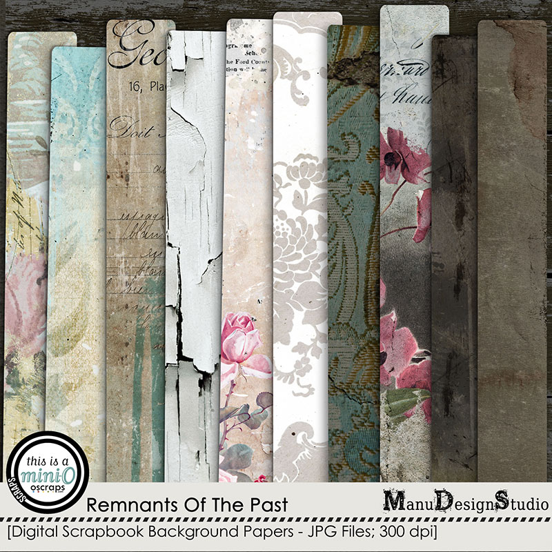 Remnants Of The Past - Vintage Scrapbook Papers
