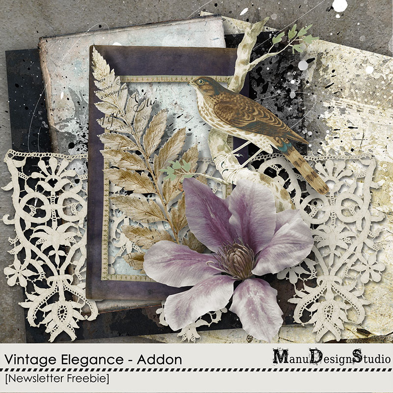 Vintage digital scrapbook Freebie