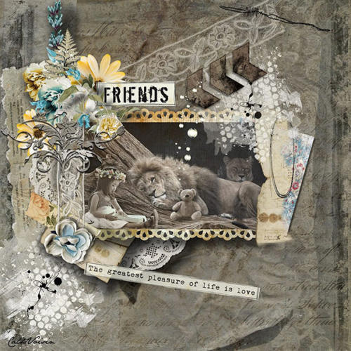 Scrapbook Inspiration Layout from Cath